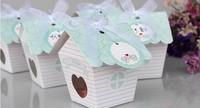 Love Nest Bird House Favor Box  100PCS/LOT baby shower candy box cupcake  cake box