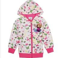 Fall Cartoon Children Clothing Of Frozen Elsa Anna Princess Baby Girl Sweatshirts Hoodies Kids Hoody Jacket Child Outwear GX718
