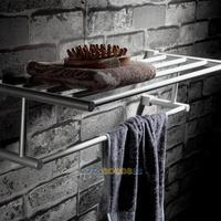 LS4G Space Aluminum Home Wall Towel Shelf Bathroom Washcloths Holder Rail Rack