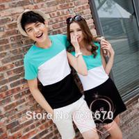 1 pc Korean 2014 new women's dress Men's short-sleeved T-shirt Summer Lovers (purchase as size chart)TX007