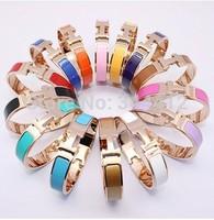 Promotion H bracelet For Women Men Buckles Rose Gold Bangles& Bracelets Letter  Clac Elegant Free Shipping $10