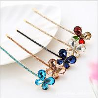 12PCS Lot Hair pin rhinestone crystal butterfly clip hair accessory Hair Barrettes bangs clip Free Shipping