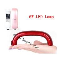 2104 New Pro 6W LED uv Lamp Nail Dryer for UV Gel Nail Polish FREE SHIPPING
