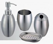 Stainless steel Classic Bathroom Set (4pcs in 1 set) Bath Set wash kit Bathroom Accessories Bath Gift Set JJ14093(China (Mainland))