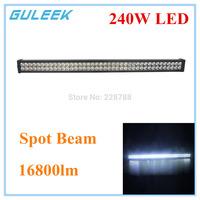 240W Spot 16800lm 6000K 80-Cree XB-D LED Work Light Bar DIY Used in Car/Boat/Auto Headlight