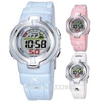 2014 Brand Pasnew 313 Girl Children Digital Sport Led Watch Clock Kids Students Silicone Staps Alarm Watchproof 30M Wristwatches