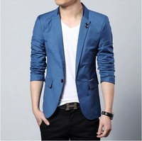 Plus size M-6XL Spring Autumn British Style Casual Slim Mens Blazer Jacket Suits For Men Mens Blazers 2014 Free shipping B1107