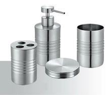 Stainless steel Classic Bathroom Set (4pcs in 1 set) Bath Set wash kit Bathroom Accessories Bath Gift Set JJ14094(China (Mainland))