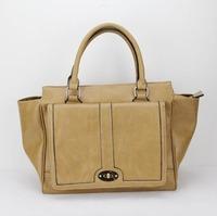 H014(khaki)Favorites Compare Latest designed/women handbag,Asia popular fashion style ,shining PU leather,Free shipping