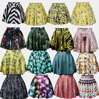 east knitting 2014 New Women high quality skirt women Summer skirts print hot selling in stock free shipping