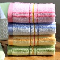2014 new fashion 3pcs/lot 34*74cm 100% cotton towels 100% cotton soft beach towel bulk cheap towel brand FACE towel