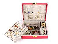 Luxury Fashion PU Leather MakeUp Case, Ring Storage Organizer, ring box, watch box, Jewelry Box/Casket, birthday gift boxes