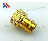 Wholesale 50 pcs SMA male plug to BNC female jack RF connector adapter straight glodplated free shipping