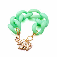 bracelets bangles resin link fashion rock Elephants charm bracelet 2014 new handmade women