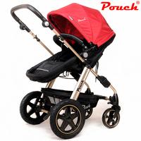 2014 Updated Baby stroller pouch baby car light trolley suspension folding stroller kids pram infanti carrinho pushchair