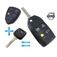 3+1 Button Flip Folding Remote Key Shell For VOLVO XC70 XC90 S40 S60 S70 S80 S90 V40 V70 V90 C70 Case FOB