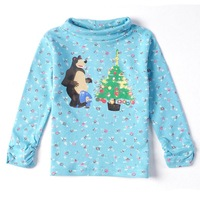 Fast Delivery F3145# 2014 new hot fashion nova kids brand baby boys children clothing cotton spring long t shirt for baby girls