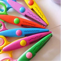 DIY Plastic Decorative Craft Enfant School Scissors for Paper Cutter Scrapbooking