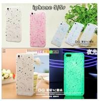 1PC Luminous Glow in The Dark Case Cover Skin For Apple iPhone 5G 5S Luminous Mobile Phone Cases