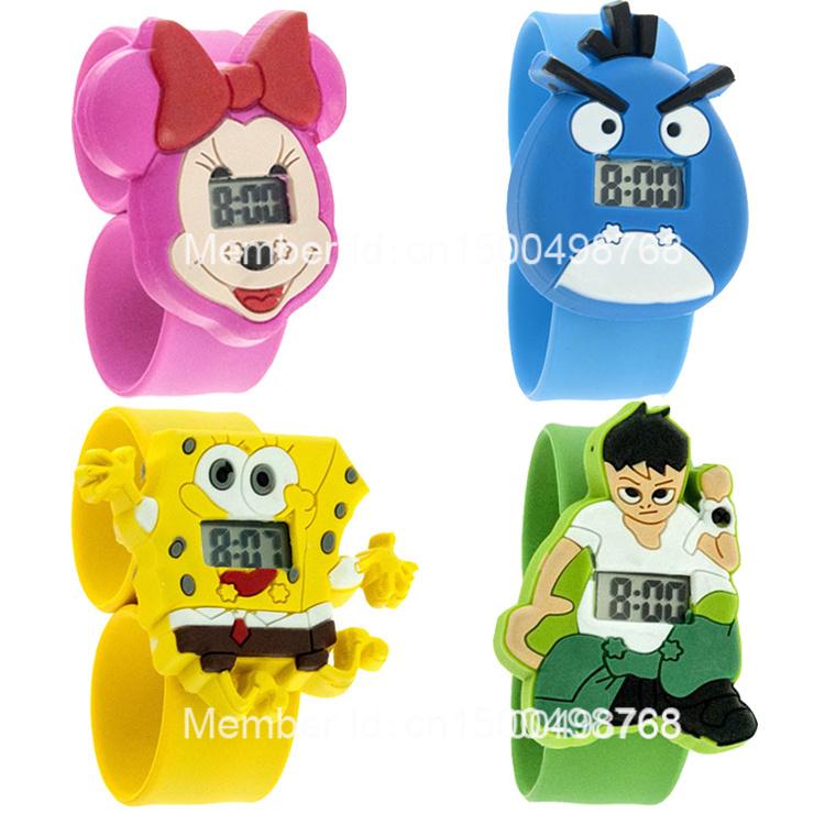 27 colors Free shipping fashion kids slap watches children cartoon watch silicone kids watch(China (Mainland))