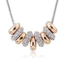Summer austria crystal  female pure silver female short design ring pendants decoration