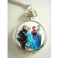 Princess Frozen Pocket Watch Necklace, 12pcs/lot, free ship, 2.9cm