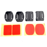 2x Flat Mounts & 2x Curved Mounts with adhesive pads for GoPro Hero 3/2/1