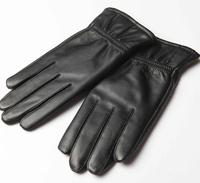 Free shipping real leather sheepskin men gloves ,fashion designer winter thermal gloves black color 2013138