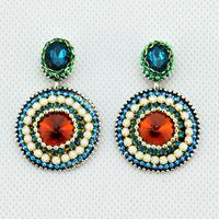 New Brand Fashion Jewelry Sale Crystal Rhinestone Handmade Chain Claw Chain Big Earrings  Plated Silver Dangle for Women