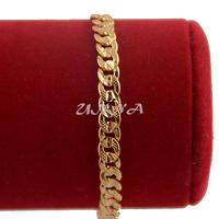 1pcs 5mm Boys Women Unisex 18K Yellow Gold Filled Curb Link Chain Bracelets E202