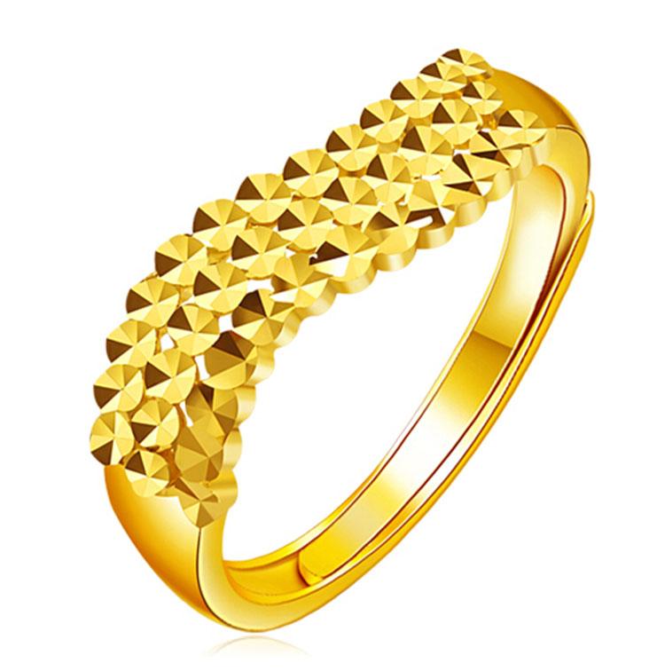 24k Gold Rings For Women Fashion Mode