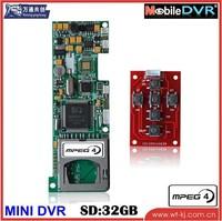 support 6 keys HD 1 ch.mini SD card dvr module