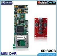 support 6 keys h.264 dvr module car standalone 1 channel high quality