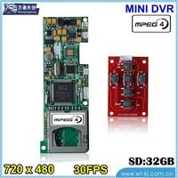 support 6 keys 1 CH SD card HD PORTABLE DVR module