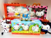 Mcdonald Toy Mcdonald's 2012 Style Hello Kitty Stuffed Plush Brinquedos Toys For Children Boy Baby Toy Gift Random 8PCS