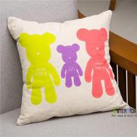 cute bear pillowcase car office sofa cushion covers