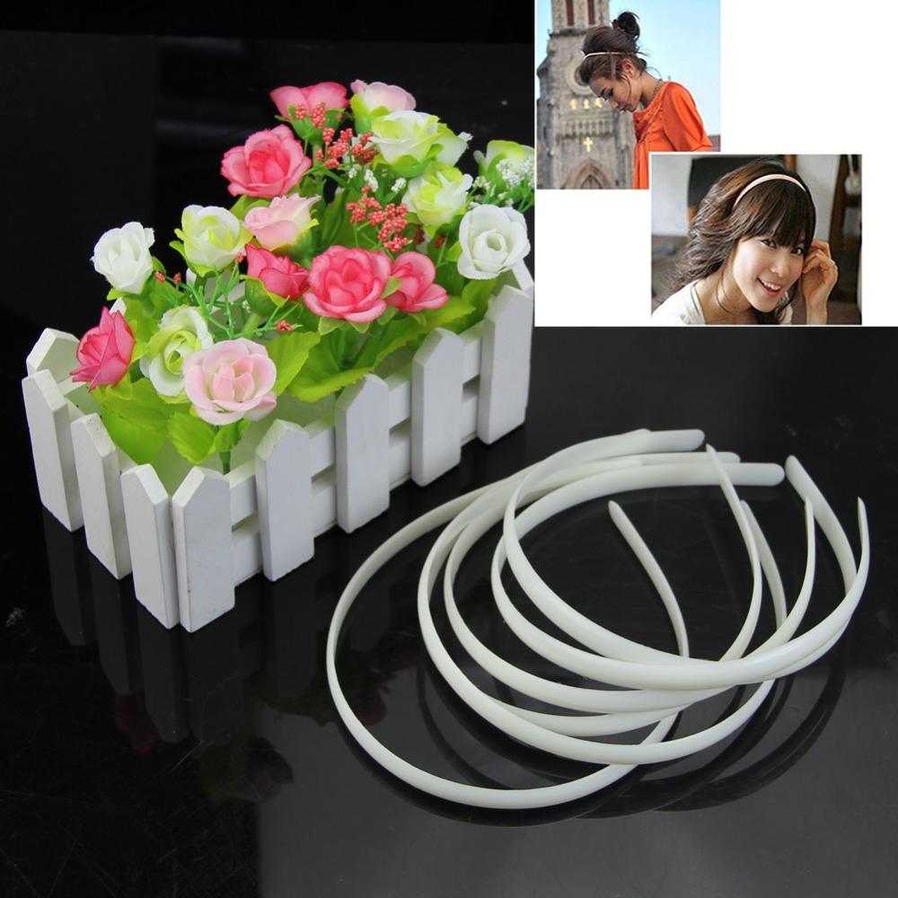 W110 Free Shipping 12pc White Fashion Plain Lady Plastic Hair Band Headband No Teeth Hair DIY Tool(China (Mainland))