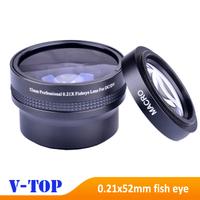 Super 0.21x 52mm HD Professional Fisheye Macro Wide Angle Lens filters for Nikon D7000 D5100 D5000 D3000 18-55mm Lens-Free Ship