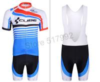 2014 Brand New Cube Short Road Bike Clothing / Pro Team Short Sleeve Bib Pant/ Summer Cycling Jerseys Shorts for men/women