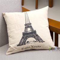 Eiffel tower pillowcase car office sofa cushion covers