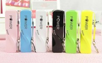 2014 new perfume power bank with keychain emergency usb chargers for phones tablets 6 colors 100pcs with retail package