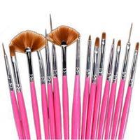 2014 New Brand Cheap Nail Tools/Portable 15Pcs Nail Art Painting Drawing Pens/Elegant Nail Dotting Pen