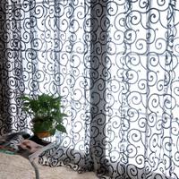 Fashion fashion curtain window screening finished product quality sheer curtain panel