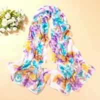 160cm*50cm 2014 new fashion chiffon scarf print autumn summer brand Rose Pattern silk scarves shawl women Female Girl Free Ship