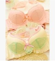 2014 NEW Fresh and SWEET lace flounced straps girls underwear sets Japanese push up chest gather women bra Bra Set