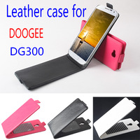 Doogee DG300 Case cover , Good Quality Flip leather (PU) case cover for Doogee DG300 cellphone free shipping