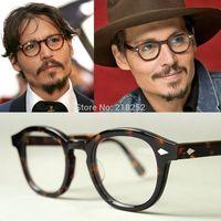 Brand Johnny Depp men and women Retro Vintage spectacle optical eyeglasses frame glasses frame oculos de grau original case