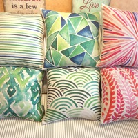 American green geometry 45 core pillow cover auto fluid fabric cushion cover sofa