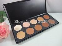 1pcs/lot Free shipping HKPOST MC make up 10 color concealer pallet  Camouflage Makeup Palette Set With brand name logo