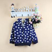 New 2014 children clothing outerwear star all-match cardigan spring & autumn children sweater knitwear Warm care for children!L4
